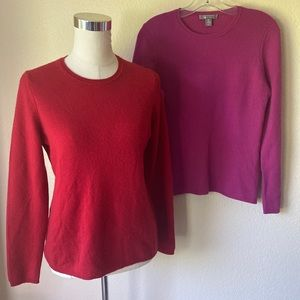 2 - Cashmere Sweaters 2 PLY Charter Club Crew M